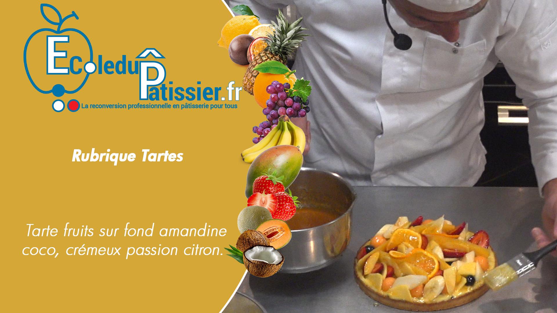Tarte fruits passion citron